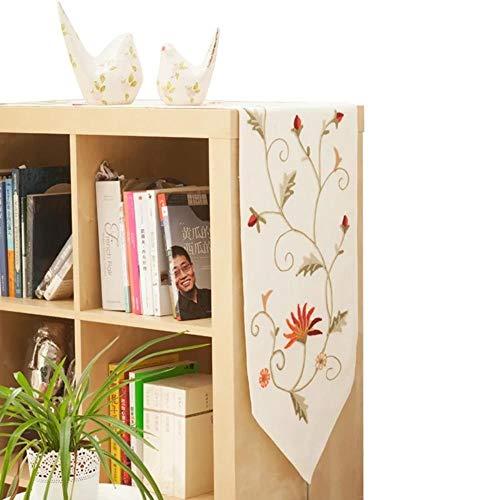 Coner tafelloper katoen en linnen bloem eenvoudige stijl tafelkleed dressoir sjaals keuken diner vakantie partijen bruiloft evenementen, 40 * 180 cm