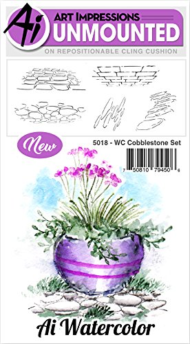 Art Impressions Watercolor Cling Rubber Stamps, Multicolor