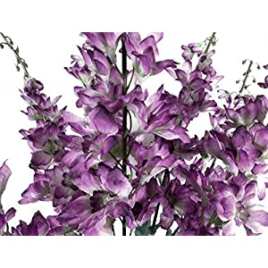 GF Artificial Silk Flowers Purple Delphinium Bush 22″ Bouquet MG019