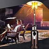 NMYYV Radiadores Exterior, 45000 propano Modern alimentados BTU de calefacción Externo con Tapa articulada, calefacción de Acero Inoxidable