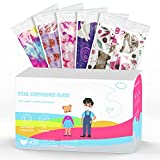 Kids Individually Wrapped Mask Disposable, 50 Assorted 3-Ply Non-woven Pink Designs Face Masks for Boys and Girls (Pink)