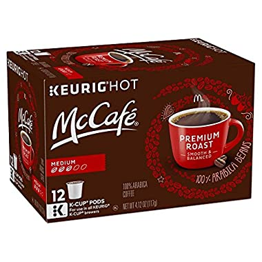 McCafé Premium Roast Coffee, Medium Roast, K-Cup Pods, 12 Count