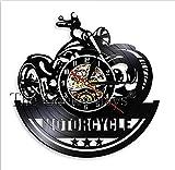 TYFEI 1 stück Motorrad Fan antike Schallplatte wanduhr motorradwerkstatt wandkunst Radfahren Club...