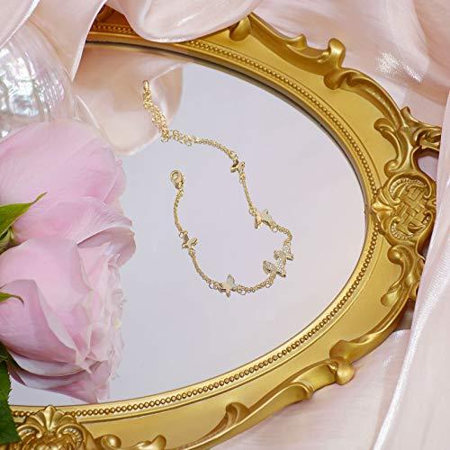 N/A Joyas de Pulsera joyería de Moda Mariposa Pulsera de circón con Incrustaciones de Cobre Elegante Pulsera Femenina Regalo de cumpleaños de San Valentín