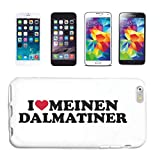 Reifen-Markt Funda Compatible con Samsung Galaxy S3 Mini, diseño con texto 'I Love Meine Dálmata, perro de raza y perro