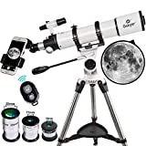 Gskyer Telescope, Telescopes for Adults, 600x90mm AZ Astronomical Refractor Telescope,Telescope for Kids,Telescopes for Adults Astronomy, German Technology Scope