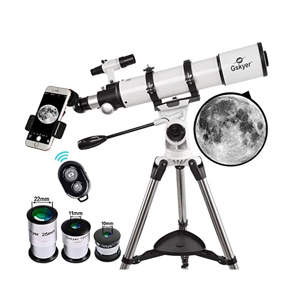 Gskyer Telescope, 90mm Aperture 600mm AZ Astronomical Refractor Telescope