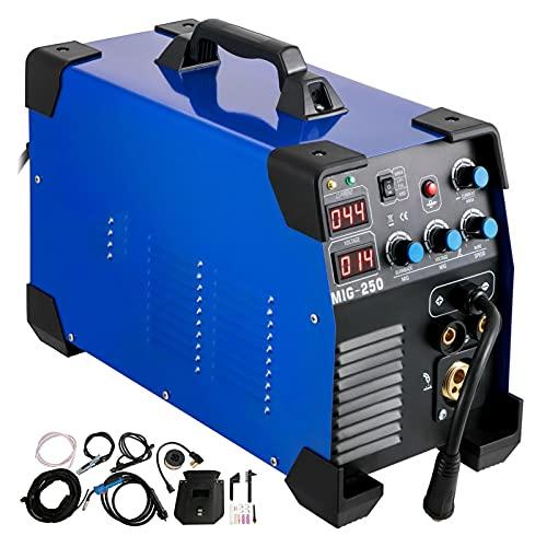 YXZQ Maquina de soldar electrica Soldador 250 AMP MIG TIG ARC Soldador 3 en 1 Máquina soldadora de Soldador TIG Lift ARC MMA Stick IGBT DC Inversor Herramientas de Soldadura