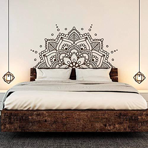Decoración de cabecera de dormitorio para el hogar, decoración de la pared, diseño de mandala, etiqueta engomada de la pared del estilo de yoga, etiqueta engomada de mandala A2 1