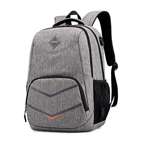 YIXIN Mochila para hombre de 15,6 pulgadas, impermeable, casual, mochila de viaje con USB, apta para negocios, camping, deportes