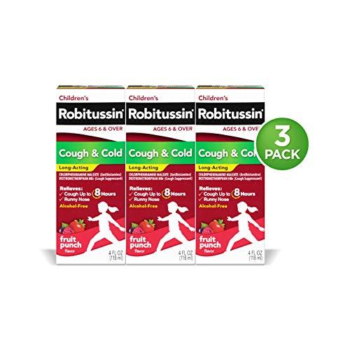 Robitussin Children's Cough & Cold Long Acting 3 X 4 Fl.Oz Pack, 12 Fl. Oz