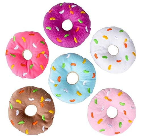 Rhode Island Novelty 12 Frosted Donut Party Favors - Plush - 5 inch -Great for Party Theme