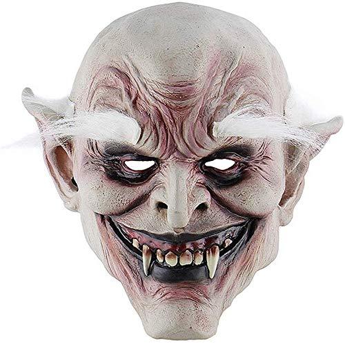 S$S volwassen kostuum hoorn masker wit-bruin oude Demon Halloween Horror duivel masker Vampier spookhuis kwaad moordenaar