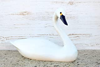 Darby Creek Trading Hand Carved Alert White Swan Decorative Wooden Duck Decoy
