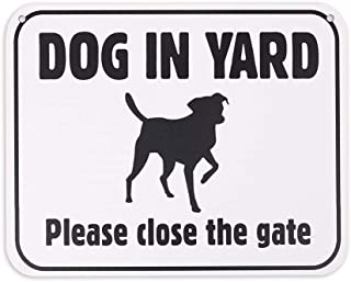 WaaHome Dog in Yard Sign Please Close The Gate Signs,8