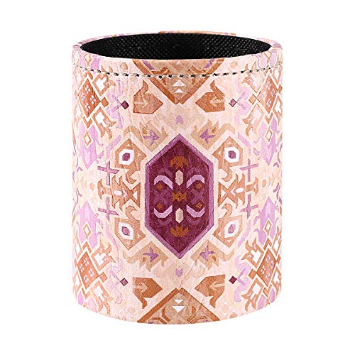 LINKWELL Boho Style Pen Holder Cute Pencil Holder PU Leather Pencil Cup Storage Organizer for Desk Office Home PH50