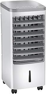 MIAO Aire Acondicionado portátil con Ventilador y humidificador de Aire evaporativo, Enfriador de Aire evaporativo con 4 Cajas de Cristal de Hielo y 3 configuraciones de Velocidad del Viento
