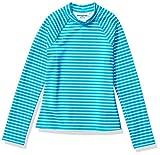 Amazon Essentials - Camiseta de manga larga de neopreno para niña, Azul (Blue Stripe), 104-110 cm...