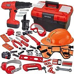 JOYIN 40-teiliges Werkzeugkoffer, Set Spielwerkzeug