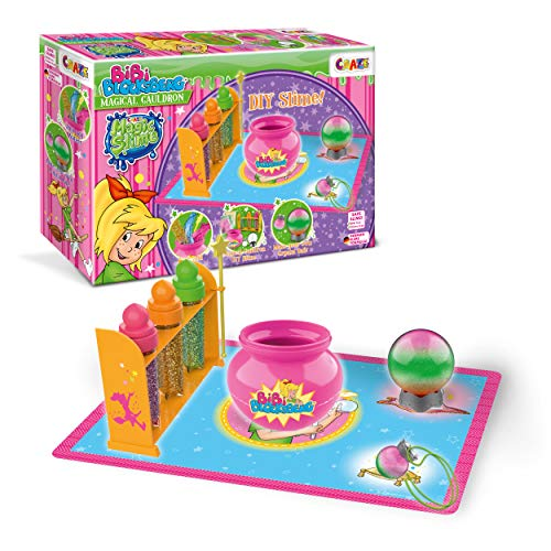 CRAZE Kessel zum Selbermachen 3 Farben und Glitzer 25123 Magic Slime Bibi Blocksberg DIY Spielset, Mehrfarbig