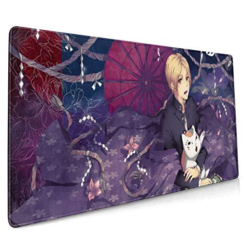 Natsume's Book of Friends - Alfombrilla de ratón (supergrande, superficie lisa y duradera, base de goma antideslizante y costuras impermeables de 90 x 40 cm)