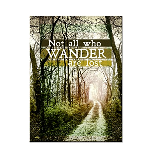 Not All Who Wander are Lost Refrigerator Magnet - [3' x 2']