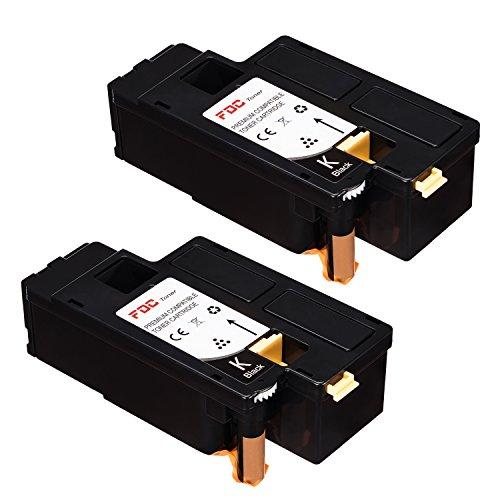 FDC - Cartuchos de tóner compatibles con Xerox Phaser 6020, 6022 WorkCentre 6025, 6027, 6028, Color Black/Black