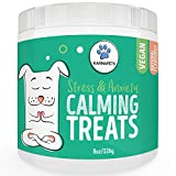 KarmaPets Calming Treats for Dogs - Anxiety Relief | Organic Vegan Dog Supplement | Soft Chews w/Valerian Root for Separation, Thunder Storms, Stress, Fear, Travel, Barking+