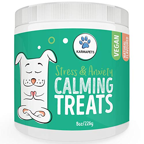 KarmaPets Calming Treats for Dogs - Anxiety Relief | Organic Vegan Dog...