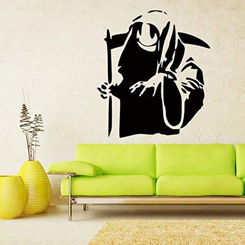 Smiley Banksy Grim Reaper Wall Sticker Street Art Schablone Graffiti Home Dekoration Vinyl Aufkleber 58 cm x 65 cm
