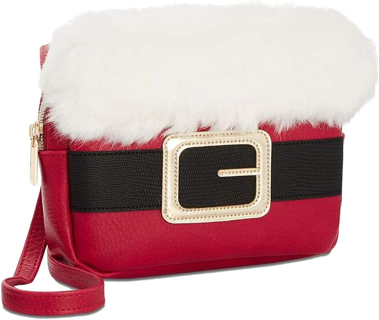 Celebrate Shop Holiday Arcade Santa Belt Crossbody Bag, Red, One Size