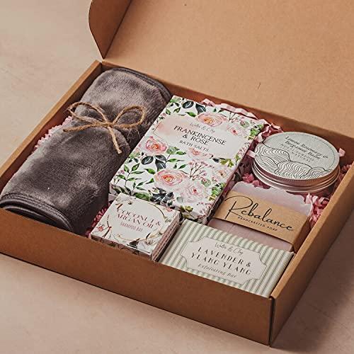 NEW LARGER SIZE! 'Just for You' Pamper Hamper Gift Box/Bath Set for Women....
