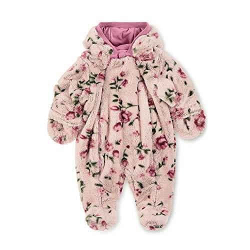 Sterntaler Flauschiger Overall für Mädchen mit Kapuze und Blumen-Motiv, Alter: 3-4 Monate, Größe: 56, Helllila