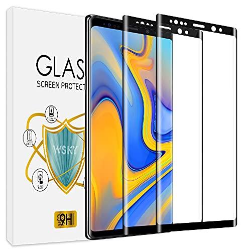 wsky [2 Stück] Panzerglas Kompatibel mit Samsung Galaxy Note 9, Ein Schutzfolie mit Zähigkeit, Ultra-transparente, Kratzfeste, Blasenfeste Panzerglasfolie, Displayschutzfolie für Samsung Note 9