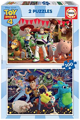 Educa Pixar Toy Story 4. 2 Puzzles Enfant de 100 pièces. Ref. 18107, Varié, 2 X 100 Piezas