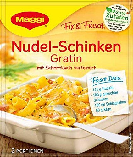 Maggi Fix und Frisch für Nudel-Schinken Gratin, 1er Pack (1 x 28 g)
