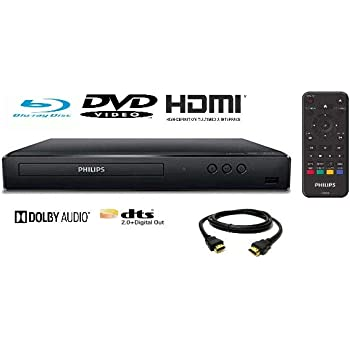 (Renewed) Philips BDP1502 Blu-Ray Disc / DVD Player with DVD Video upscaling to HD and 6FT HDMI Cable Included