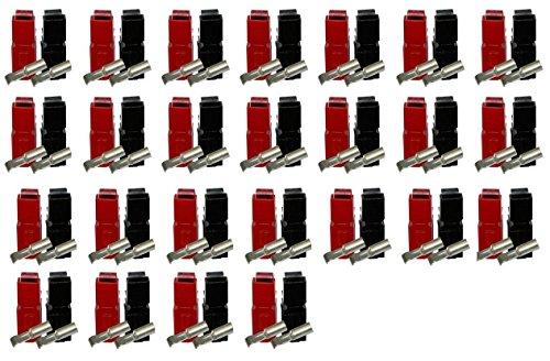 50 Stück Anderson Powerpole Set, 50x 30A Kontakt, 25x Gehäuse rot, 25x Gehäuse schwarz