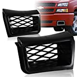 EPARTS Pair SS Style Front Bumper Caliper Air Duct Vent Bezel Cover Trim Fit For 2003-2007 Chevy Silverado 1500