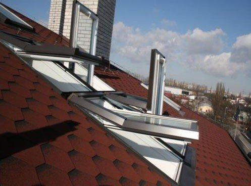 AFG Skylight Kunststoff Dachfenster PVC 55 x 98 mit Eindeckrahmen Schwingfenster Dachflächenfenster