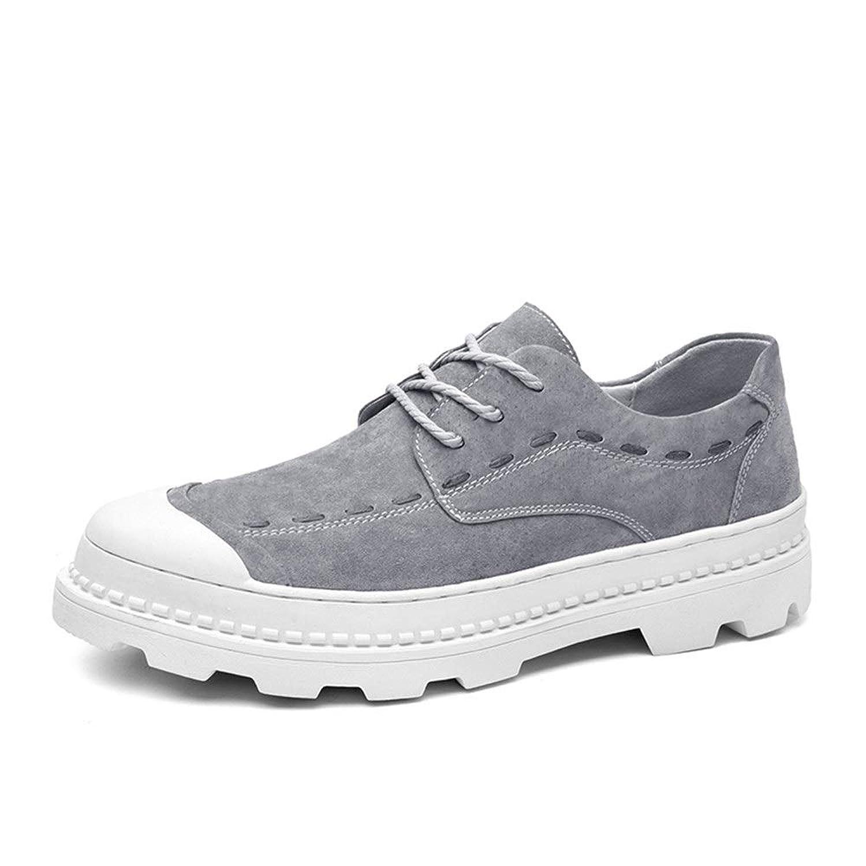 [Jusheng-shoes] メンズシューズ 人のスポーツの靴のための運動靴はPUの革ライト適用範囲が広くそして簡単をひもで締めます カジュアルシューズ