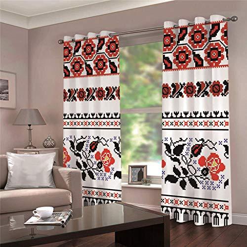 cortinas salon modernas 2 piezas con ojales