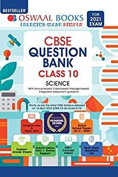 Oswaal CBSE Question Bank Class 10, Science (For 2021 Exam) by [Oswaal Editorial Board]