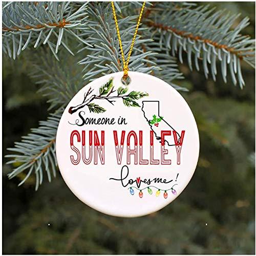 JamirtyRoy1 - Adorno de Navidad, diseño de búhos en el Valle del Sol, California Loves Me CA, mamá, papá, Esposa, Marido, Esposo, Regalo de Recuerdo de Navidad