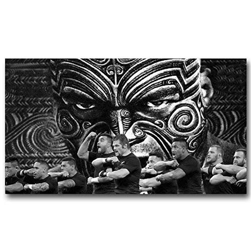 All Blacks New Zealand Rugby Team Wall Poster Picture Living Room Art Printing Indoor Mural Decoration 60X90cm Sin Marco