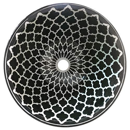 L'ORIENT Interior Marokkanisches Waschbecken | Modern Art | Ø:40cm | handbemaltes marokkanisches Waschbecken aus der Königsstadt FES