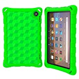 2020 H D 8'' Tablet Case (Compatible with 10th Generation Tablets, 2020 Releases), Riaour Light Weight/Shock-Absorption/Anti Slip/High Impact Kids Case for All-New H D 8 Tablet (Green)