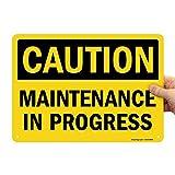 SmartSign 'Caution - Maintenance In Progress' Sign | 10' x 14' Aluminum