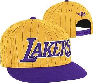 adidas NBA Los Angeles Lakers Gold-Purple Pinstripe Snapback Adjustable Hat
