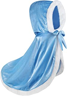 Qtdstz Girls Dress Up Princess Cape Toddler Costume for Hodded Cloaks (10-11 Years)